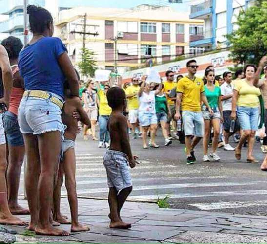 Afro-Brazilians watch protests
